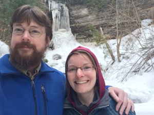 falls near Lake Superior, cold but beautiful