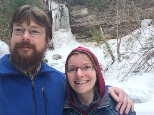 falls near Lake Superior, cold but beautiful