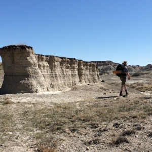 hiking the Badlands